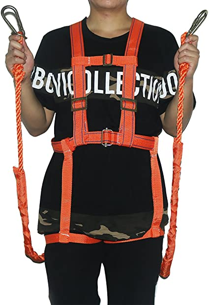 YaeCCC Climbing Harness Work Safety Belt Mountaineering Rock Climbing Harness Rappelling Safety Harness