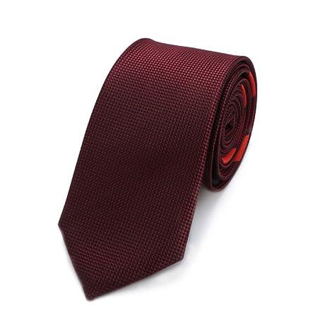 Hukangyu1231 Corbata roja de Seda sólida de los Hombres de la ...