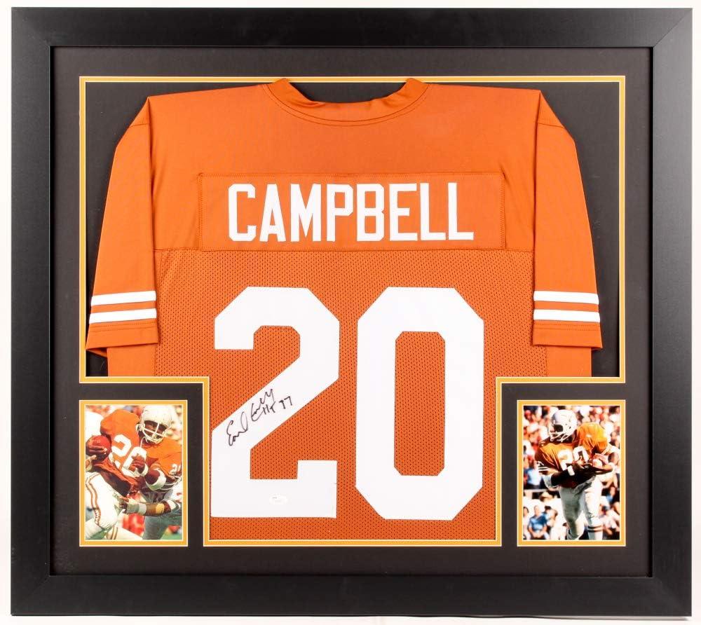 Earl Campbell #20 Signed Texas Longhorns 31x35 Custom Framed ...