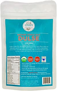 product image for Ocean's Balance Organic Whole Leaf Dulse - Maine Coast Seaweed - Atlantic Ocean Sea Vegetables, Perfect for Keto Diet, Paleo Diet, Vegetarian Lifestyle or Vegan Diet - Gluten Free - 2oz Bag