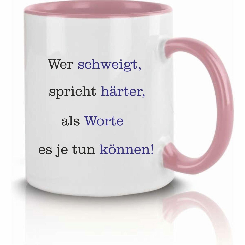 Klebemonster24 Taza con texto:¿Quién schweigt Habla ...