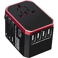 Universal Travel Adapter with 4 Ultra-Fast USB Port and 1 Ultra-Fast USB Type C Port and Power Socket Worldwide Plugs UK…