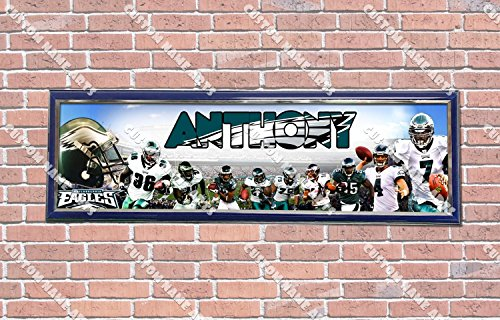 Personalized Customized Philadelphia Eagles Poster With Frame, With Your Name On It, Party Door Poster, Room Art Decoration, Wall Decor