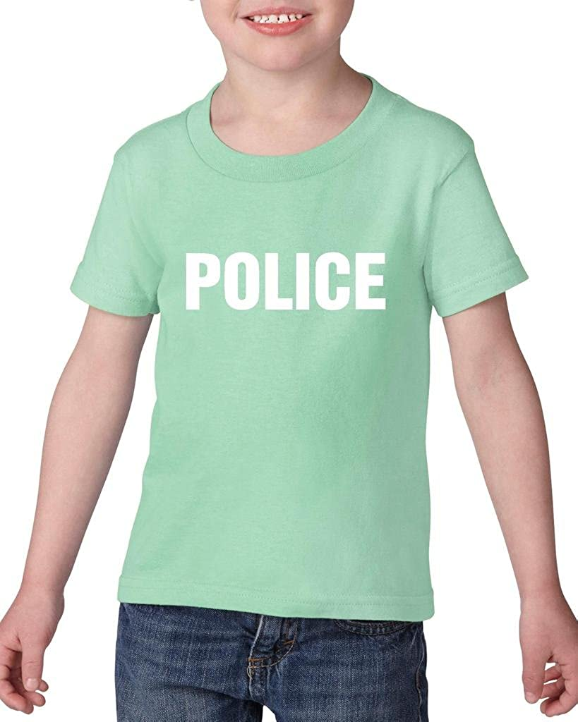 Xekia Police Fashion Law Enforcement Toddler Kids T-Shirt Tee Clothing