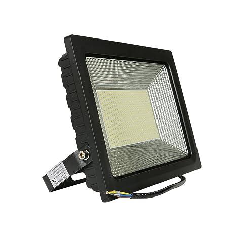 Foco proyector LED 100W para exteriores, equivalencia SAP 250W ...