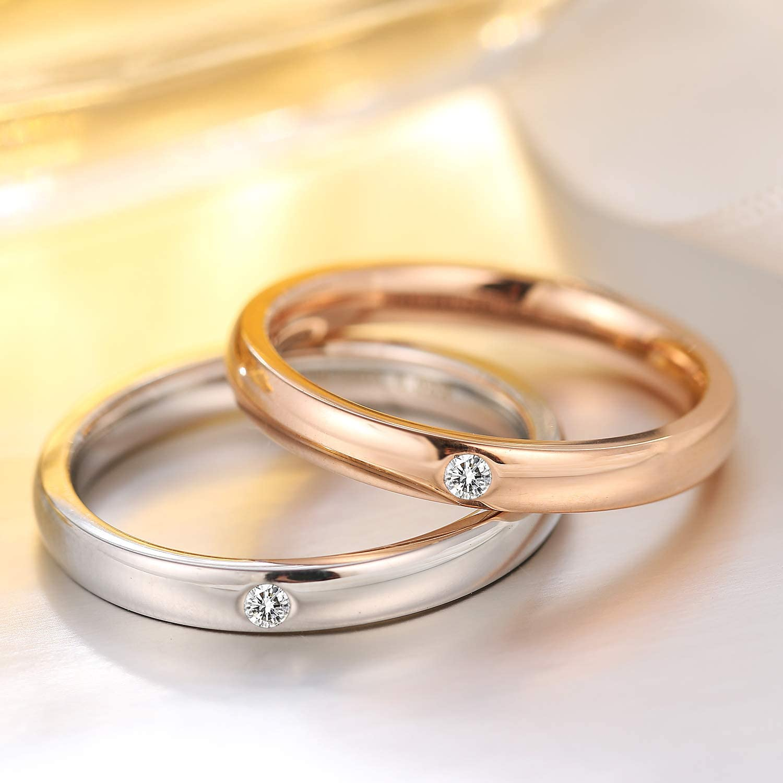 Amazon Com Yiba Tech Wedding Bands 3mm Engagement Rings For Women