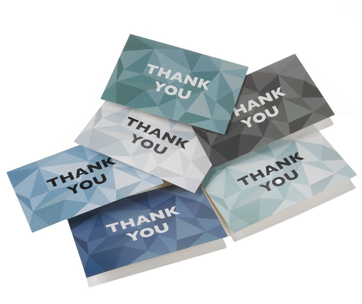 Thank You Cards - 48-Count Thank You Notes, Bulk Thank You Cards Set - Blank on the Inside, 6 Stained Glass Pattern Designs – Includes Thank You Cards and Envelopes, 4 x 6 Inches by Best Paper Greetings (Image #9)