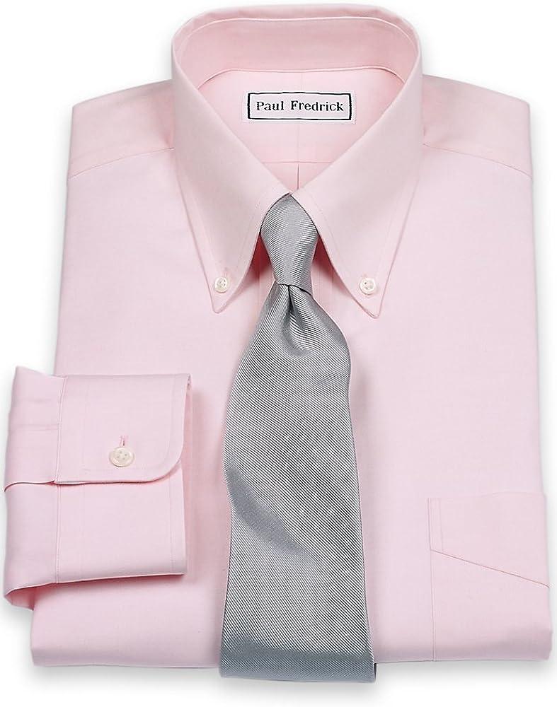 Paul Fredrick Mens Pinpoint Button Down Collar Button Cuff Dress Shirt