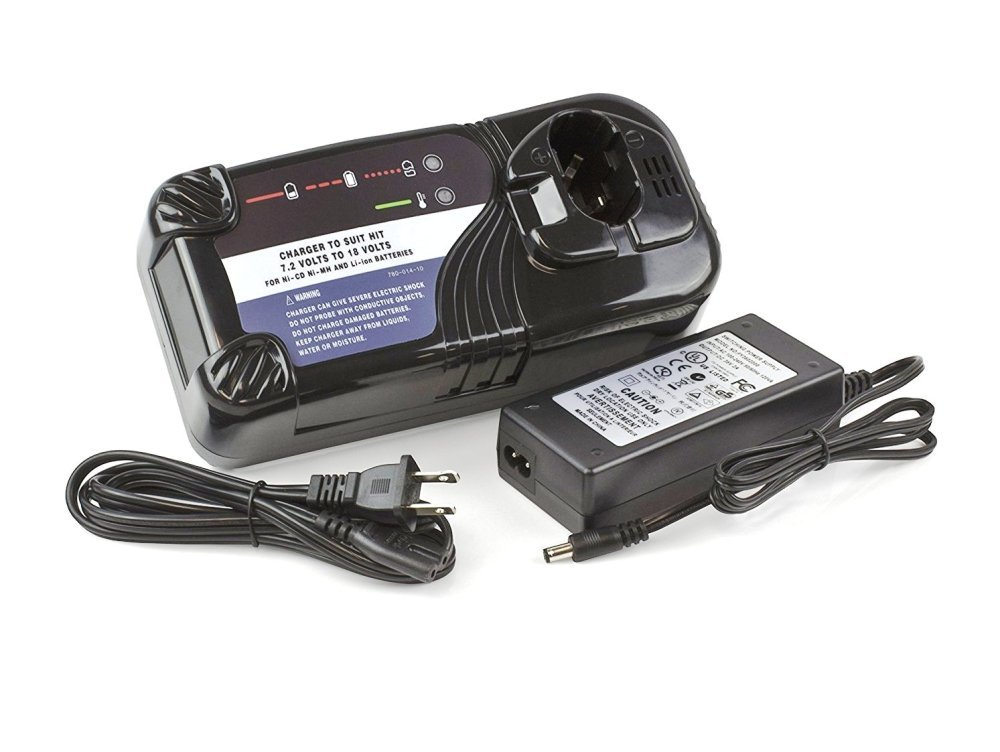 Heartte@ Charger for Hitachi 7.2V to 18V NiCd NiMh & Li-Ion Power Tool Batteries (HIT-CH01)