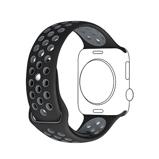 46 opinioni per Apple Watch Cinturino, Sanday Morbido Silicone Sostituzione Sport Banda Strap