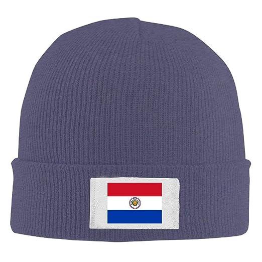 036e58bd3 Junnikay Neutral Knit Beanie Hats Flag Paraguay Warm Winter Skull ...