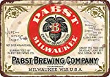 "Aluminum 8"" x 12"" pabst blue ribbon beer brewing company vintage look reproduction sign"