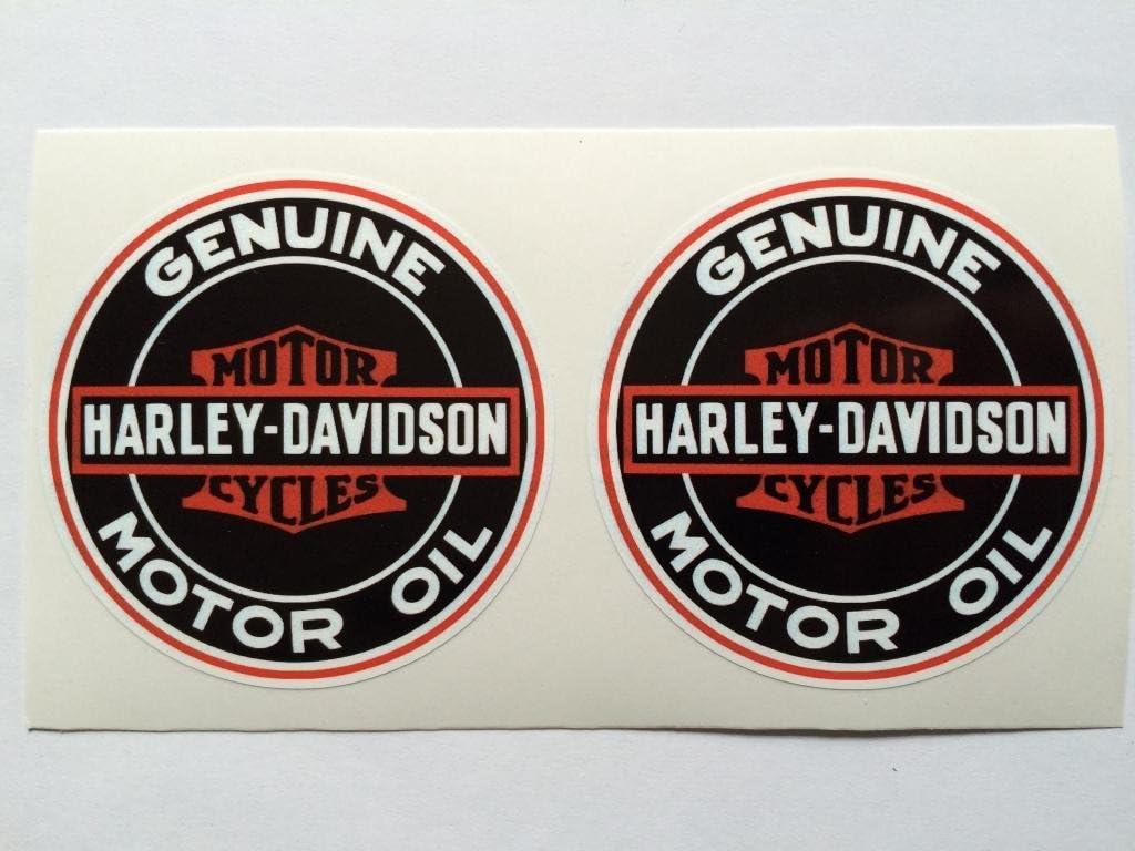 SBD Decals 2 Harley Davidson Vintage Style Benzina autentico Die Cut Stickers