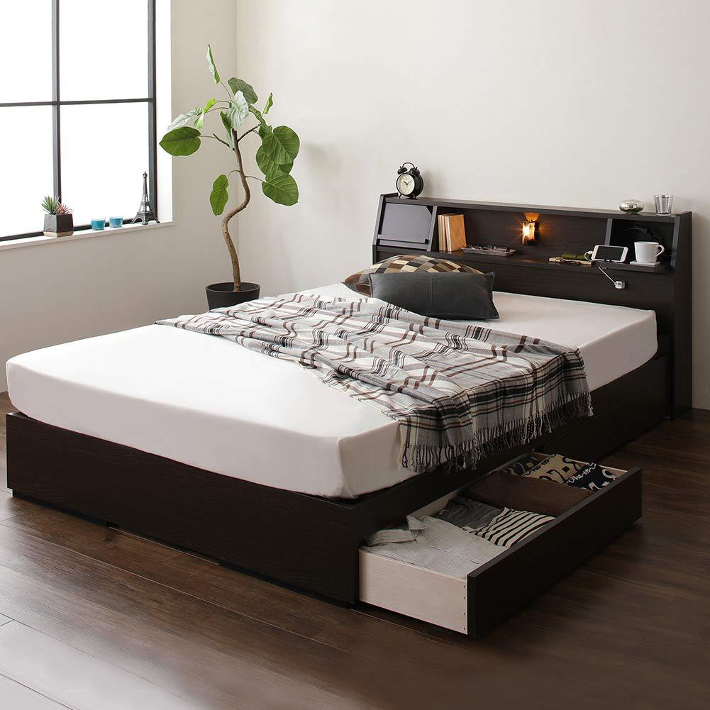 やさしいシリーズ 日本製 収納付きベッド ラフラン