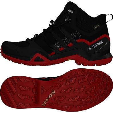 finest selection 6fcb1 b3b65 adidas Terrex Swift R2 Mid GTX, Chaussures de Randonnée Hautes Homme, Noir  Negbas
