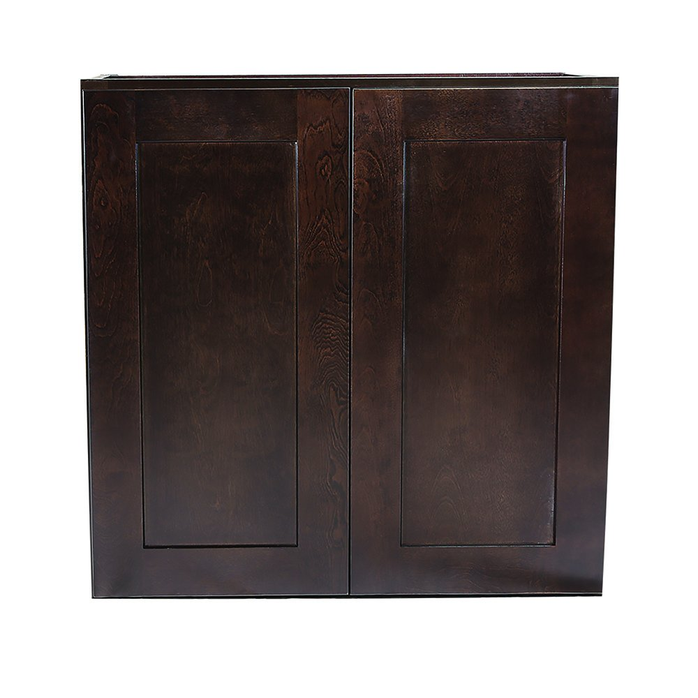 Design House 543041 Brookings Unassembled Shaker Wall 24x36x12, Espresso RTA Kitchen Cabinets,