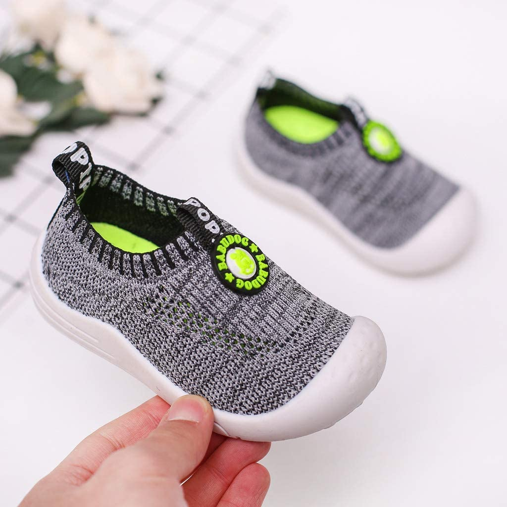 ❤️Rolayllove❤️ Baby Boy Sneakers Kids Slip On Casual Mesh Loafers Aqua Water Running Beach Breathable Shoes for 12M-5.5Y