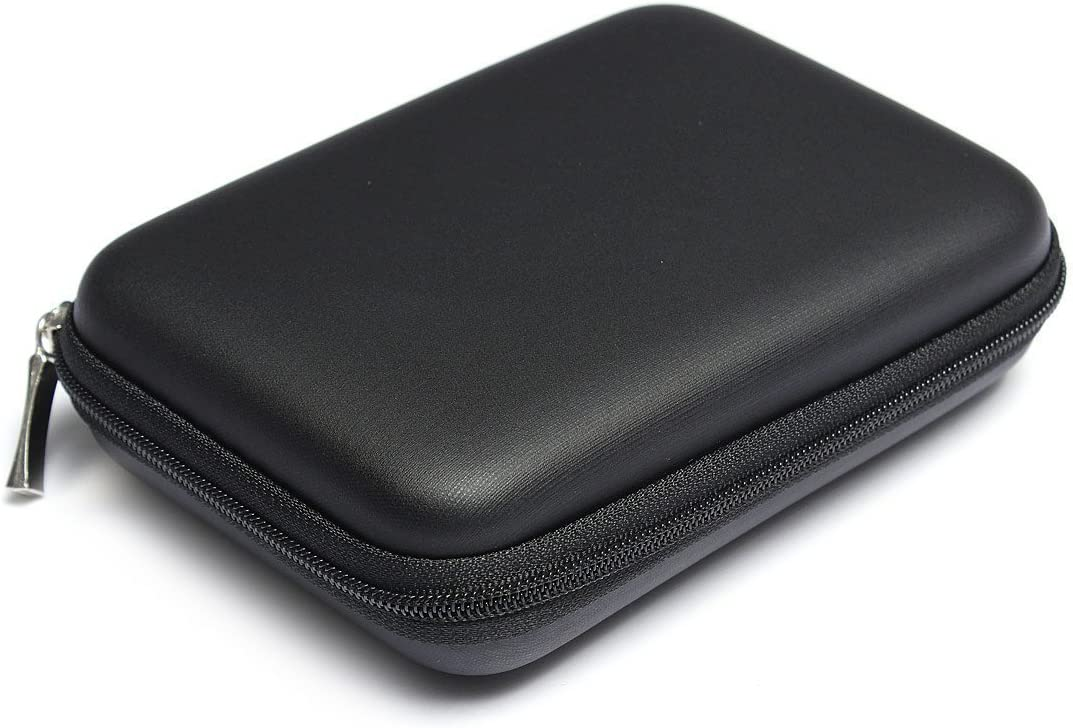 10 4cm Black Qifumaer 1pc Portable Hard Drive Case Carry Case Hard Carrying Hard Case Zipper Compact Protective EVA Case Bag Pouch Package Pocket Shockproof Protection Box 14