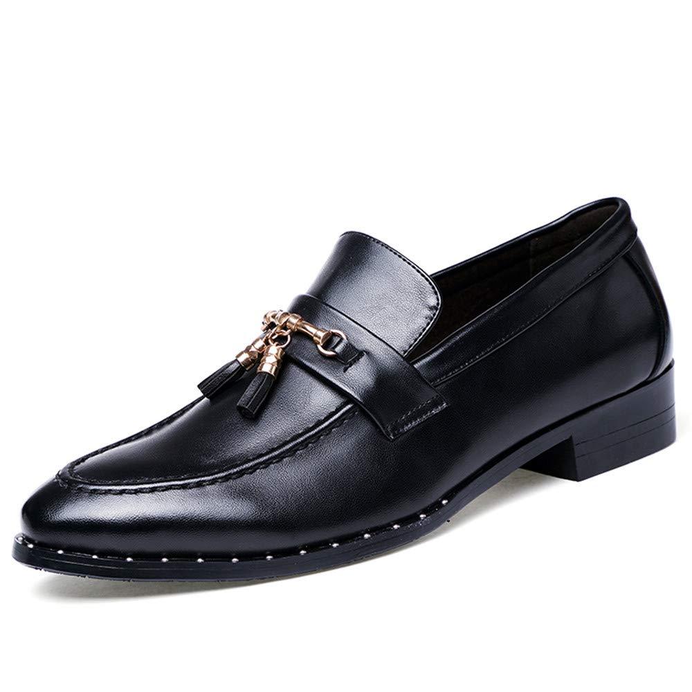 Oxford Shoes Men's Oxfords Flat Heel Driving Loafer Genuine Leather Shoes Business Shoes for Men (Color : Black, Size : 9.5 M US)