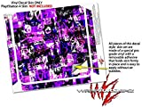 Purple Graffiti - Decal Style Skin fits Sony PlayStation 4 Slim Gaming Console