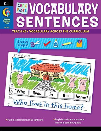 Cut & Paste Vocabulary Sentences (2216)