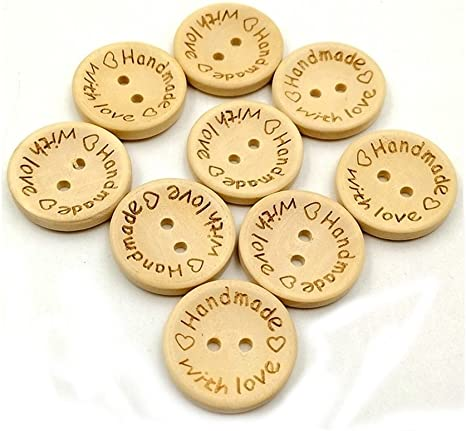100 Butterfly 2 Hole Sewing Buttons Scrapbooking Craft Embellishment Natural