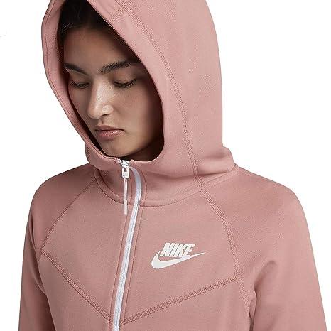 40a29be0a Nike Women's Tech Fleece Hoodie Pink White 930759-685 (XS) at Amazon Women's  Clothing store: