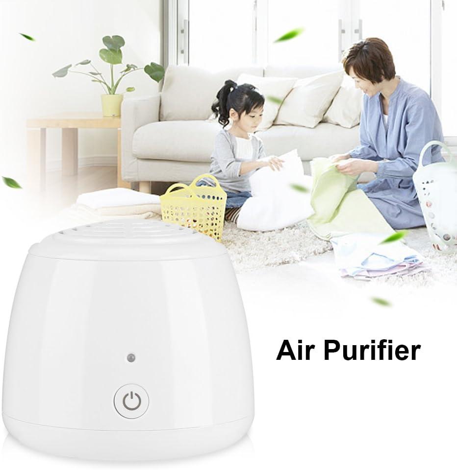 Ymiko Mini purificador de Aire Anion Air Cleaner Desodorante port/átil USB Refrigeraotr con Filtro de Alta eficiencia y carb/ón Adecuado para Habitaciones peque/ñas y hogares