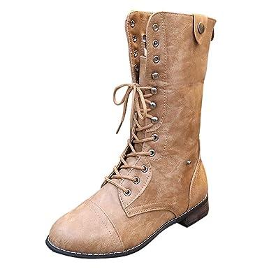 cde6d7bc4e61b Amazon.com: Outtop(TM) Women Retro Riding Boots Ladies Square Heel ...