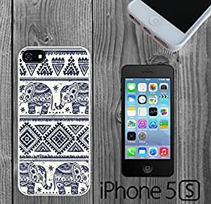 Blue Elephants Aztec Custom made Case/Cover/Skin FOR iPhone 5/5s