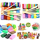 Mixed Colour Soft Oven Bake Polymer Clay Block Modelling Moulding Art Design