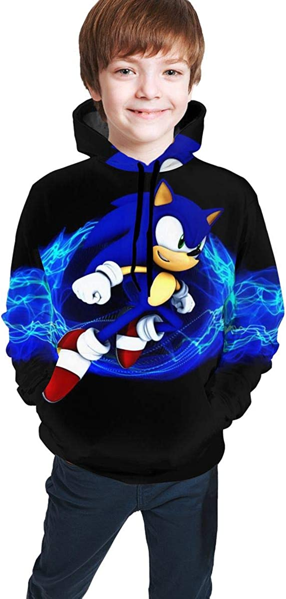 Muindancer Hedgehogs Sonic Kids' Soft Hooded Sweatshirt Hoodie for Boys Or Girls