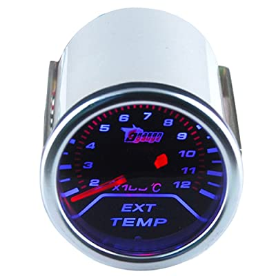 "ESUPPORT Car 2"" 52mm EGT Exhuast Gas Temp Gauge Meter Temperature: Automotive"