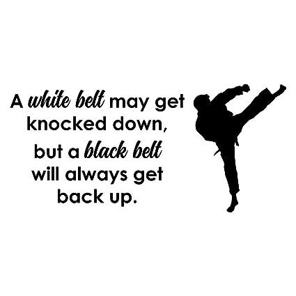 Amazoncom Empresal Karate Wall Art Stickers A White Belt May Get