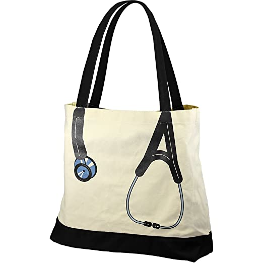 1945146e8554 Medical Nurse Stethoscope Novelty Canvas Tote Bag