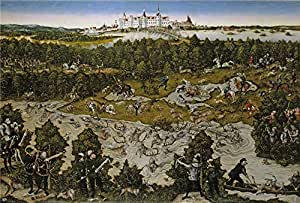 'Cranach Lucas Caceria en honor de Fernando I en el castillo de Torgau 1545 ' oil painting, 24 x 35 inch / 61 x 90 cm ,printed on Perfect effect canvas ,this Replica Art DecorativeCanvas Prints is perfectly suitalbe for Hallway decor and Home decoration and Gifts