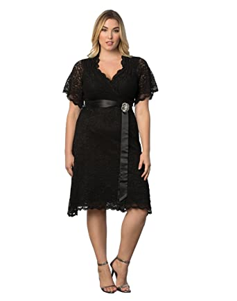 Amazon.com: Kiyonna Women's Plus Size Retro Glam Lace Dress: Clothing