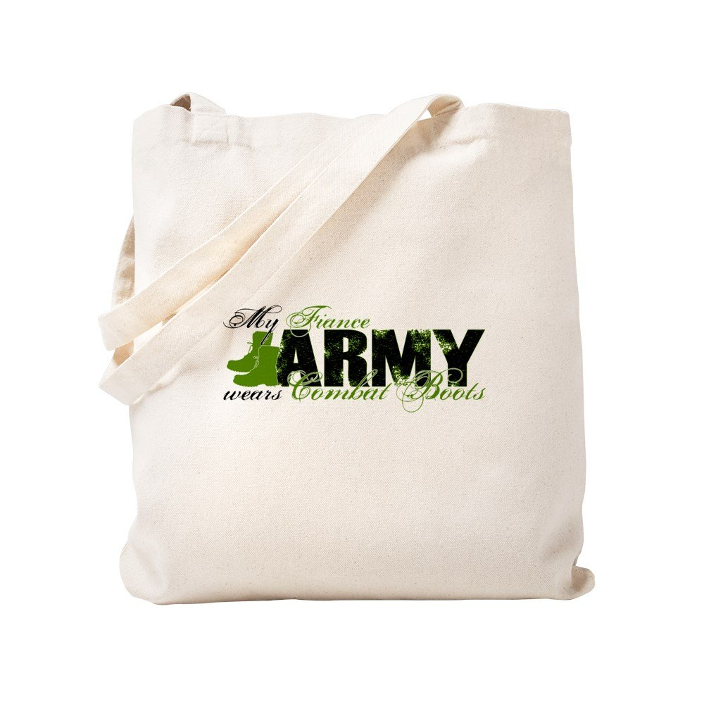CafePress - Fiance Combat Boots - ARMY - Natural Canvas Tote Bag, Cloth Shopping Bag
