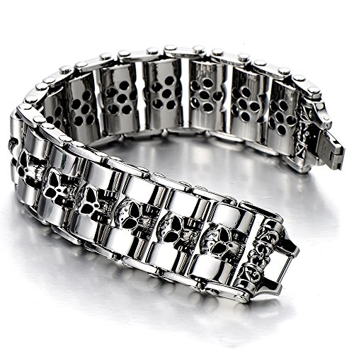 Stainless Bracelet Silver Two tone Polished