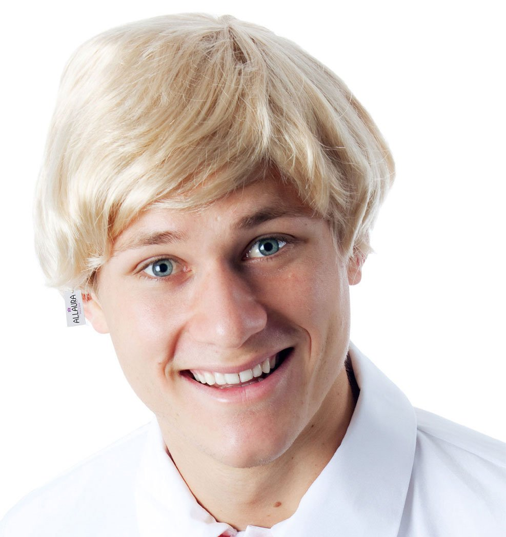 Short Blonde Wig for Men - Fred Scooby Doo Andy Warhol Draco Malfoy Costume Wigs