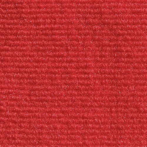 4'x8' Rectangle - Bright Red - ECONOMY INDOOR / OUTDOOR CARPET Patio & Pool Area Rugs |Light Weight INDOOR / OUTDOOR Rug - EASY Maintenance - Just Hose Off & (Red Carpets For Sale)