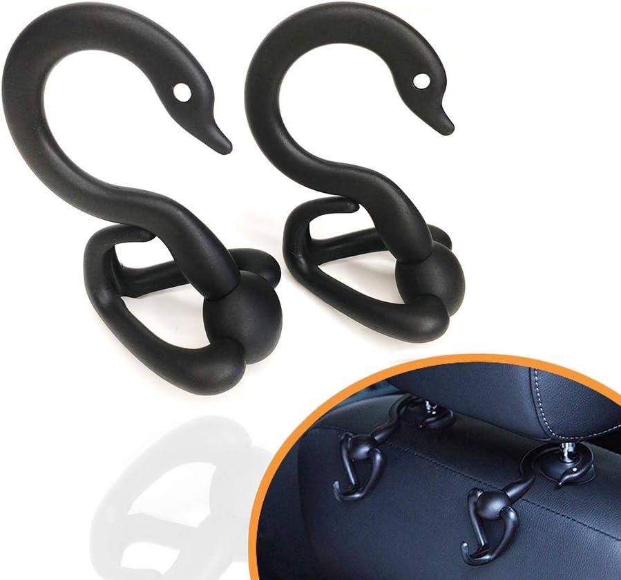 Senwero Universal Car Haken Rücksitz Kopfstütze Aufhänger Halter Praktische Haken Organizer Für Rucksäcke Lebensmittel Einkaufstaschen Kleiderbügel Packung Mit 2 Dekorativen Haken Durch Auto