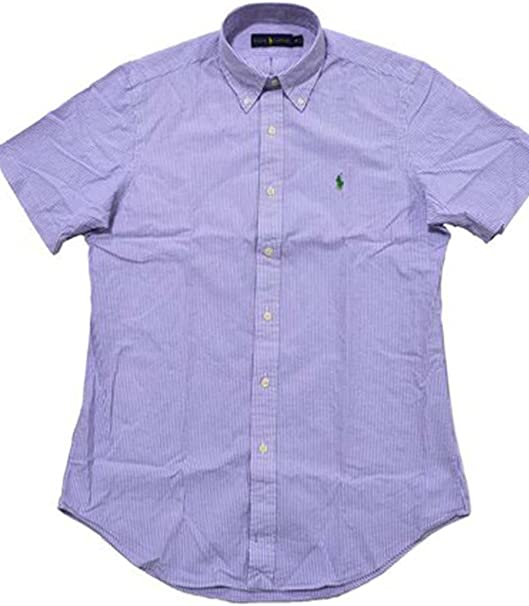 Ralph Lauren Polo Men S Check Seersucker Shirt X Small Purple
