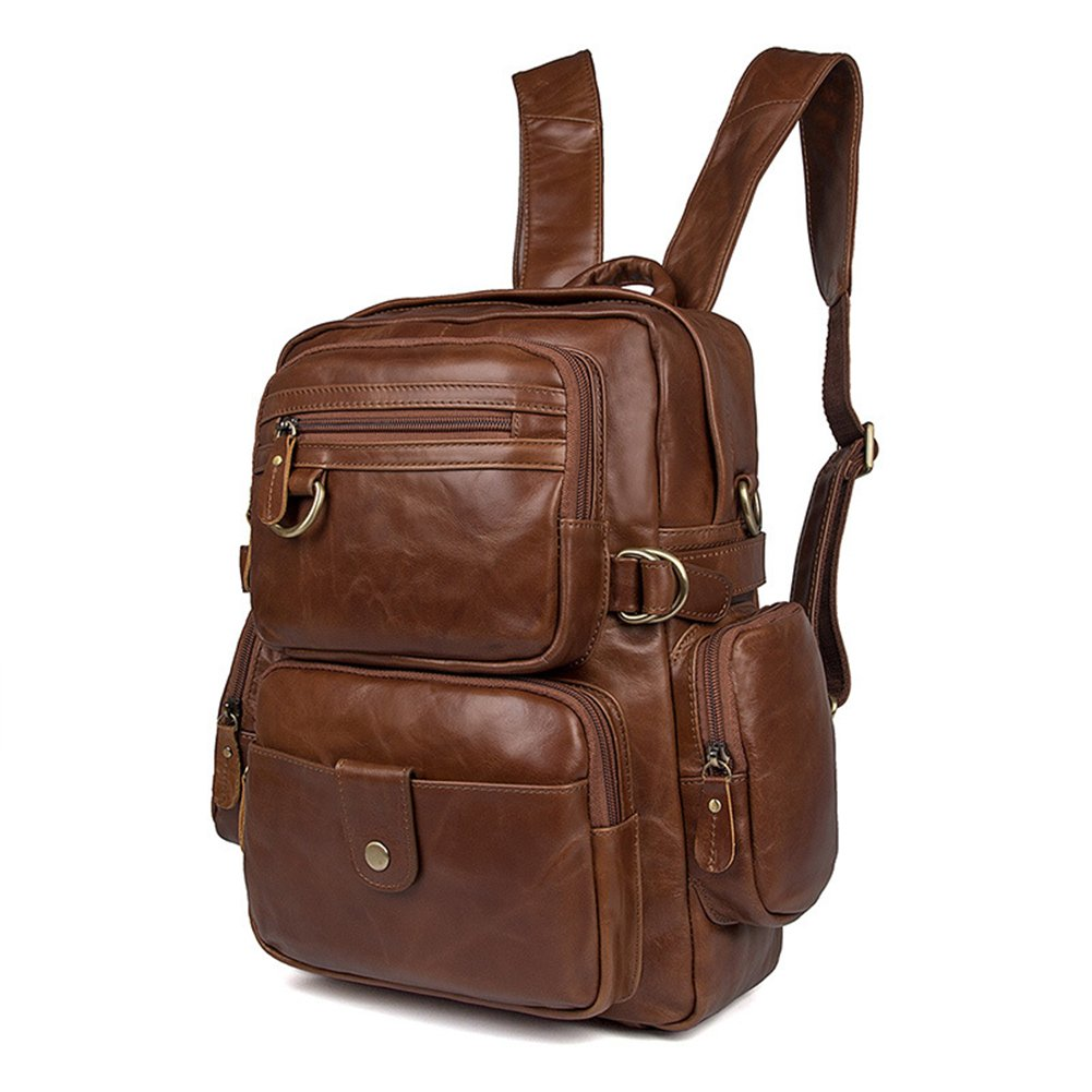 MuLier Sling Backpack Men Genuine Leather Bag Crossbody Shoulder Bag For Men by MuLier (Image #2)