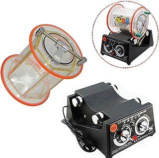 OUkANING Jewelry Polisher Machine, 45W 220V Mini Rotary Tumbler Jewelry Polishing Finisher 3KG with Free Polishing Bead