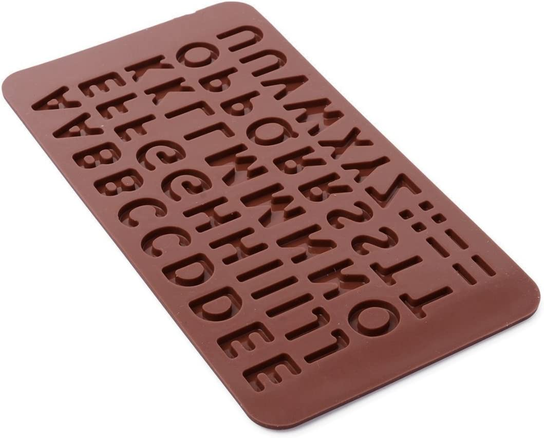 Dingsheng 26 Letras A a Z símbolos Alfabeto Molde Silicona ...