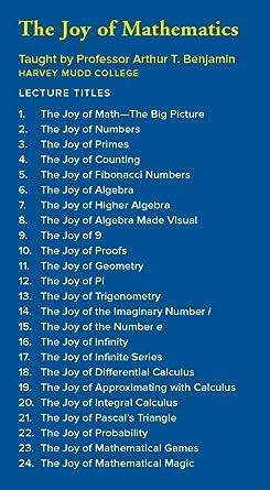 Amazon.com: The Great Courses: The Joy of Mathematics: Arthur T ...