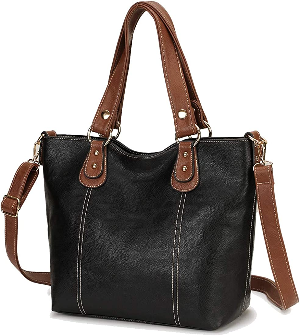 Purses and Handbags,RAVUO Designer Handbag for Women PU Leather Satchel Tote Bag Top-handle Ladies Hobo Handbags 2pcs Set