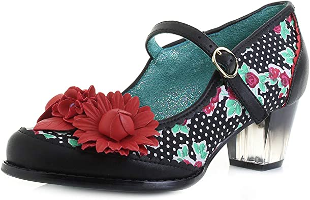 Poetic Licence by Irregular choice Force of Beauty Shoes Black Combi Size