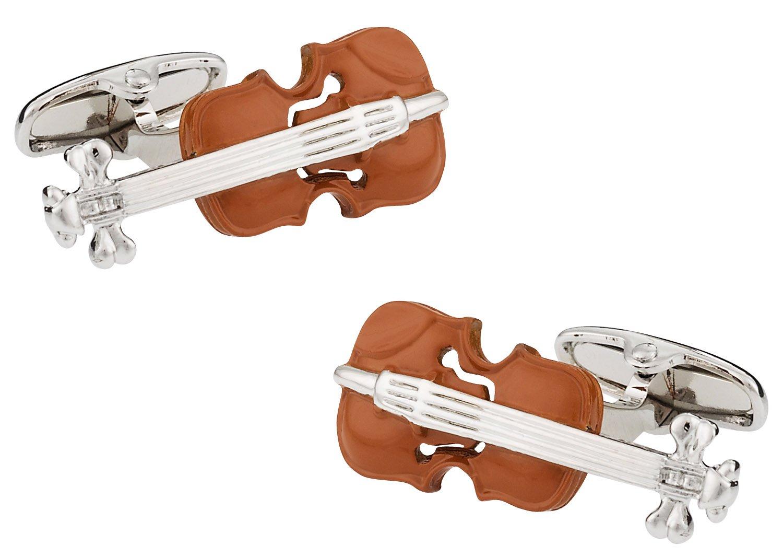 Cuff-Daddy Wood Violin Cufflinks